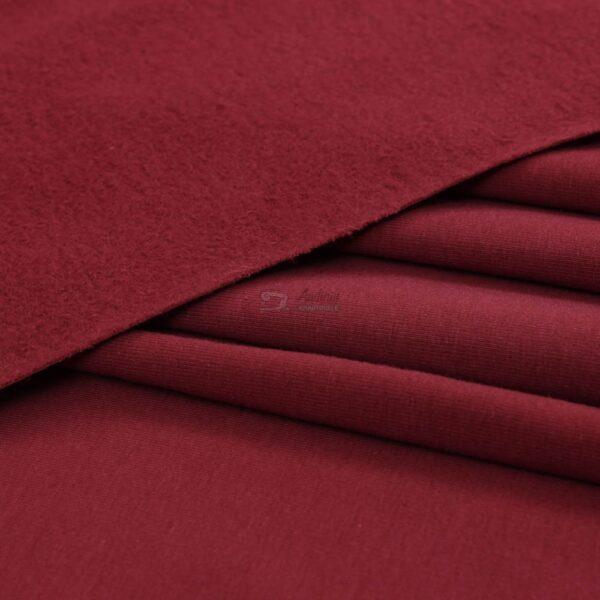 bordo spalvos, kilpinis trikotazas su pukeliu, elastingas