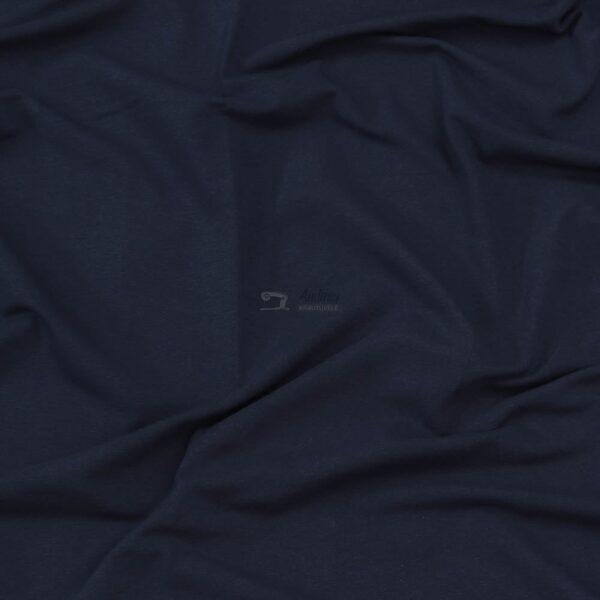 audiniu krautuvele, medvilnes kilpinis trikotazas su pukeliu, tamsiai melynos spalvos