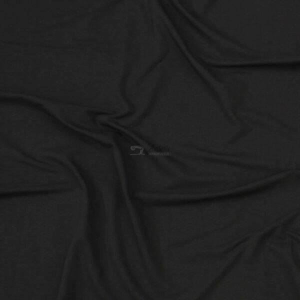 juodos spalvos, kilpinis trikotazas su pukeliu