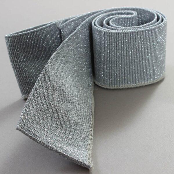 sidabrinis su metalic ribb trikotazas