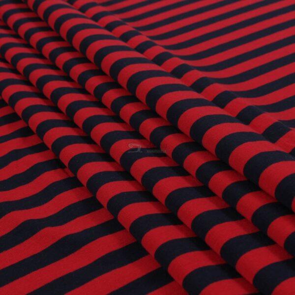 raudona-melyna, dryzuotas kilpinis trikotazas