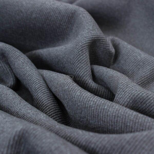 tamsus antracito spalvos ribb trikotazas