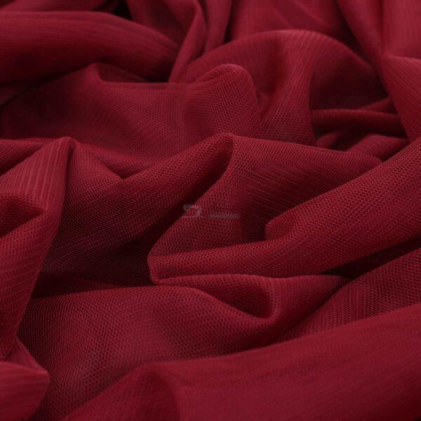 bordo spalvos minkstas elastingas tiulis