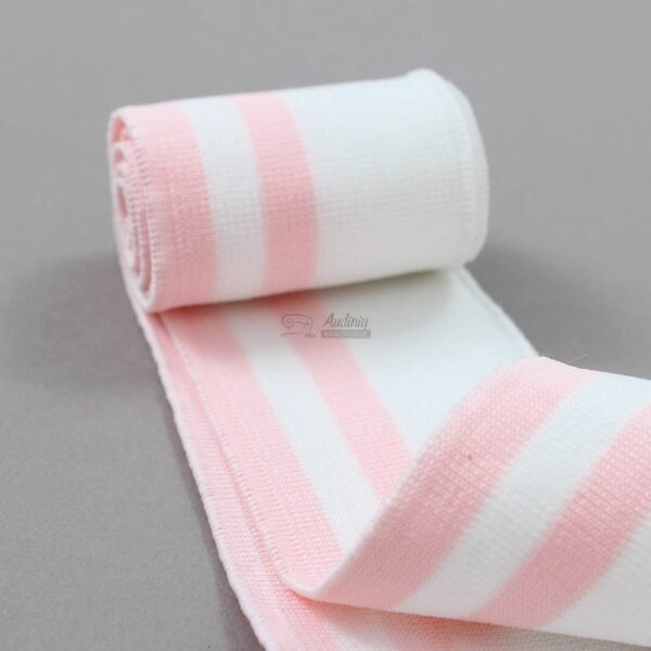 baltas su rozinem juostelem ribb juosta