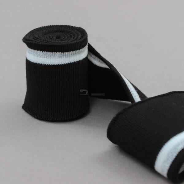 juoda ribb juosta su balta ir pilka metalik juostele