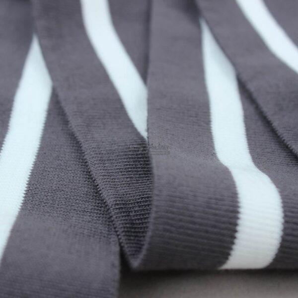 antracito pilka su balta ribb juosta