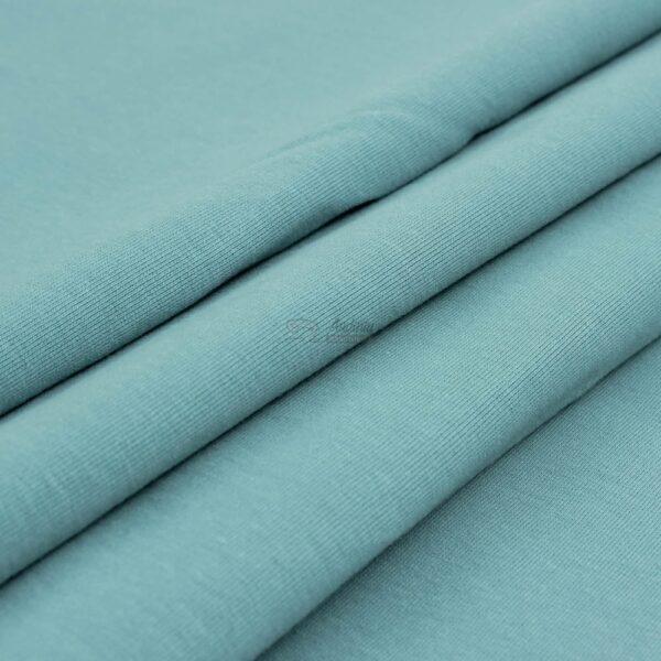 melsvas mineral kilpinis trikotazas su pukeliu ir elastanu