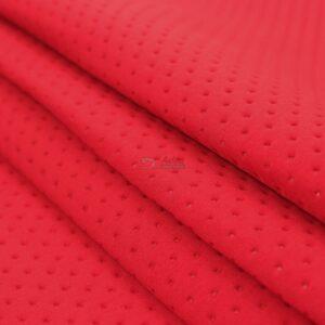 raudonos spalvos fakturinis neoprenas