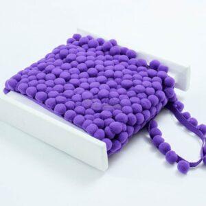 violetines spalvos pom pom juosta