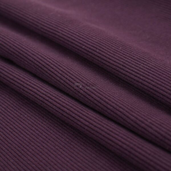 baklazano violetinis ribb trikotažas