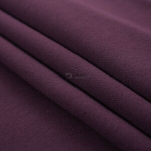 baklažano-violetinės spalvos trisiulis kilpinis trikotazas