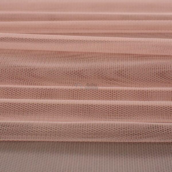 nude spalvos elastingas minkstas tiulis