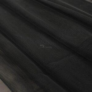 juodos spalvos elastingas tiulis