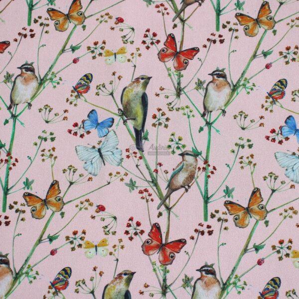 drugeliai persikinio pagrindo, medvilne