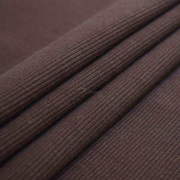 sokoladines spalvos ribb trikotazas