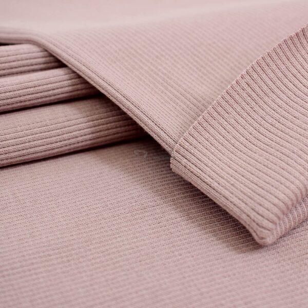 pudrines rozines spalvos ribb trikotazas